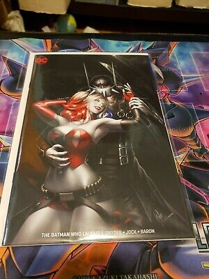 Batman Who Laughs #1 KRS Exclusive Harley Quinn warren louw Virgin Variant  NM