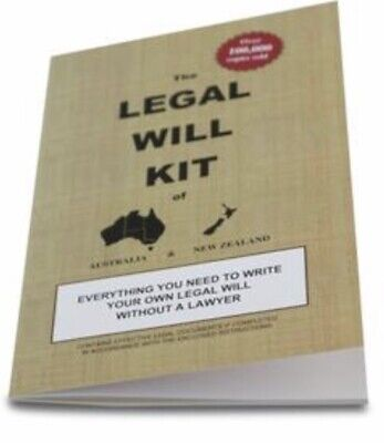 Legal Will Kit of Australia and NZ A5 size step by step instructions