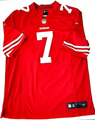 c9254a186 Colin Kaepernick  7 San Francisco 49ers NFL Nike On Field Red Jersey Men  Large
