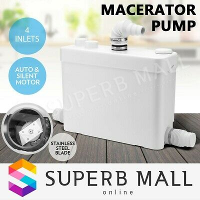 400W Macerator Sewerage Pump Auto Waste Water Marine Disposal Toilet Laundry
