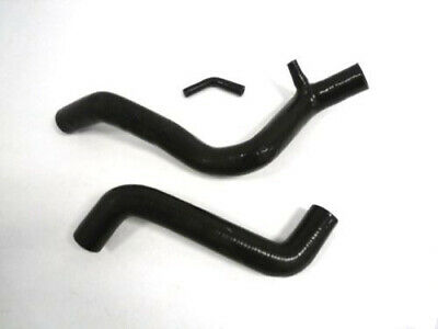 Black Silicone Radiator Hose Kit With Clamps For 2005-2007 Ford Focus 2.3L L4