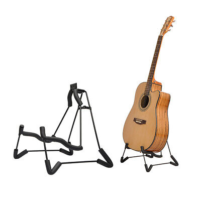 New Glarry A-Shaped Electric Guitar Stand 4cm Sponge and ABS Plastic Foldable