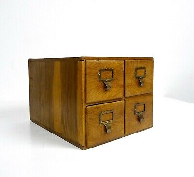 Original German Art Deco Apothecary Table Chest Of Drawers About 1930 Antique