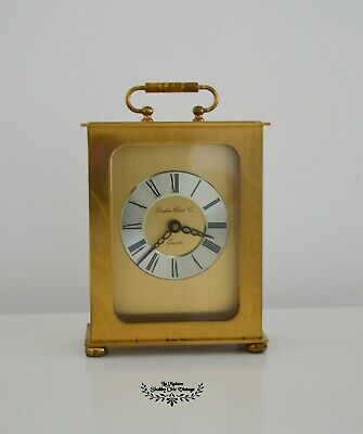 Vintage Brass Cased Carriage Clock Tabletop London Clock Co Quartz Clock