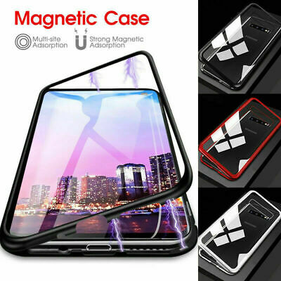 For Samsung Galaxy Note 9 S9 S10 Full Cover Magnetic Tempered Glass Phone Case