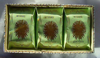 BN Vintage Guerlain Mitsouko Beautifully Boxed set of 3 x 80g Toilet Soap Bars