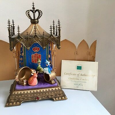 """Wdcc Disney Sleeping Beauty """"Clandestine Conclave"""" Le 602/750 With Box Coa"""