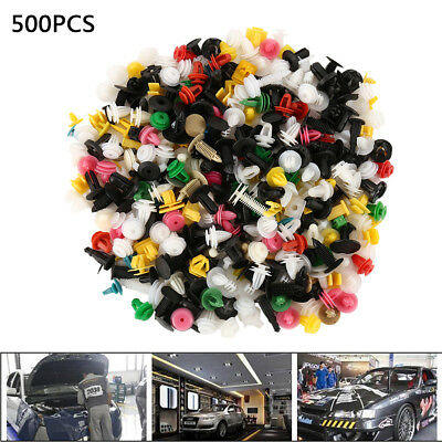 500X Car Body Trim Clips Retainer Bumper Rivets Screw Panel Push Fastener Kit