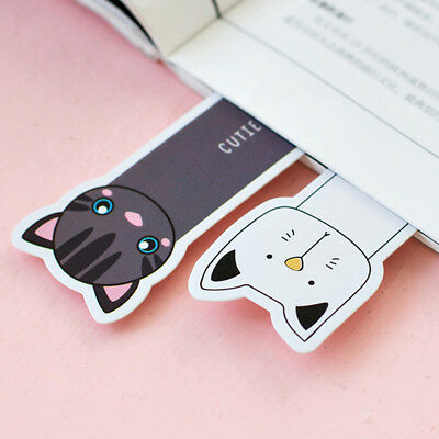 30X/Lot Cute Oh Yeah Cats Kitty Face Page marker Bookmark Paper Holder School CN