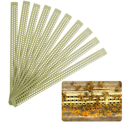 10pcs Plastic Pollen Trap Catcher Bee Hive Entrance Beekeeping Apiculture ToolFR