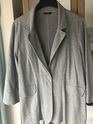 1c3123bdd2064 GEORGE ASDA LADIES Grey Jersey Blazer Size 24 - £4.20 | PicClick UK
