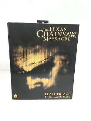 The Texas Chainsaw Massacre Leatherface Foam Latex Mask With Original Packaging