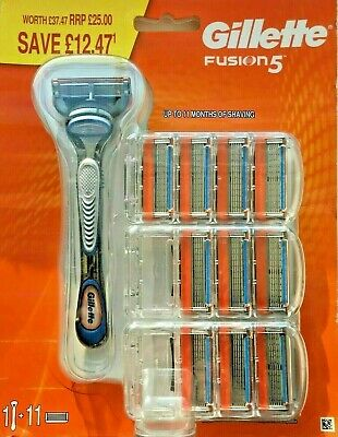 Gillette Fusion 5 11 Blade + 1 Stick 100% Genuine New Freepost