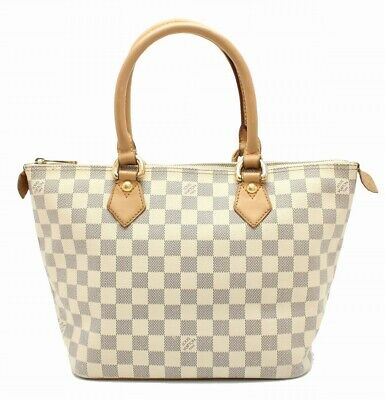 219f44170fa8 Auth LOUIS VUITTON Damier Azur Saleya PM Handbag Tote Bag Shoulder N  MO 11660506