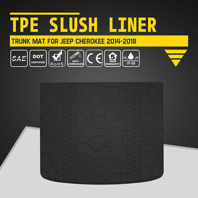 KIWI MASTER Trunk Mat Cargo Tray Floor Liners TPE Slush for 14-18 Jeep Cherokee