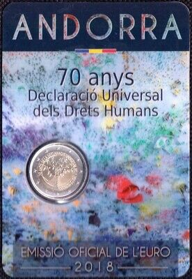 2 Euro Andorra 2018 Declaration of Human Rights Coincard
