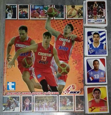 FIBA EuroBasket 2015 TEKMA EMPTY ALBUM + FULL STICKERS SET Michael Jordan