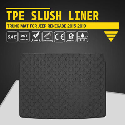 KIWI MASTER Floor Liners TPE Slush Mat Trunk Cargo Mats for Jeep Renegade 15-19