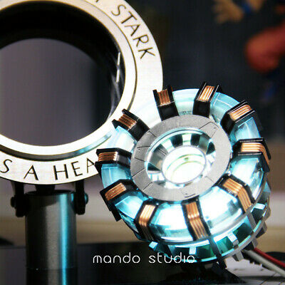 Iron Man Arc Reactor MK2 1:1 Tony Stark Heart LED USB DIY Model Figure Prop
