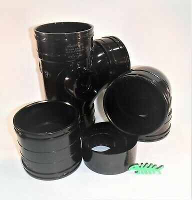Solvent Weld WASTE Pipe Fittings, BLACK, 110 mm