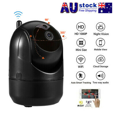 HD 1080P Wireless IP Camera Auto Smart Tracking Home Security Wifi Baby Camera