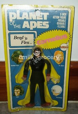 "Vintage 1967 MEGO Bend n Flex Planet of the Apes Cornelius 5"" Bendy Figure MOC"