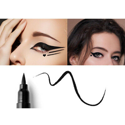 Dual-ended Waterproof Black Liquid Eyeliner With Tattoo Stamp Seal Eye Liner-Pen