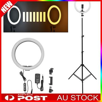 """14"""" 5500K Dimmable Diva LED Ring Light Diffuser MIRROR Stand Make Up Studio"""