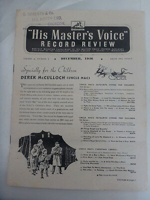 HMV His Masters Voice RECORD GUIDE REVIEW 1946 DISNEY OLD LEWIS CARROLL