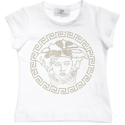 Young Versace Girls White Medusa Top BNWT
