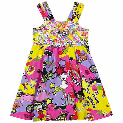 Young Versace Girls Cotton Jersey Dress BNWT