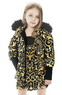 Young Versace Girls Baroque Down Padded Jacket BNWT