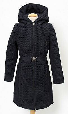 Young Versace Girls Navy Blue Down Padded Coat BNWT