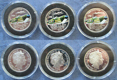 2010 Jersey £2 Coloured Silver Proof Coin, Battle of Britain: Spitfire, .925 ag