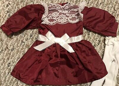 American Girl Doll Samantha's Holiday Dress New In Box W Accessories