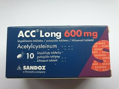 ACC long 600 mg tablets-For liquefying viscous mucus in airways-10 tablets