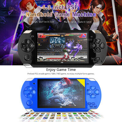"""4.3"""" For PSP Portable Handheld Video Game Console Built-in10000 HD Player 8GB"""