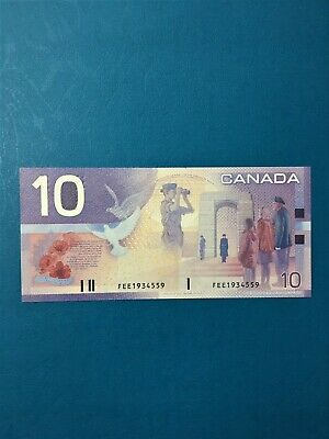 BC-63b FEE CHANGEOVER BANKNOTE GEM UNCIRCULATED CANADA $10 Journey Series