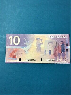 BC-63b SHORT RUN FEN 2188261 2002 BANKNOTE GEM CANADA $10 Journey KNIGHT/DODGE