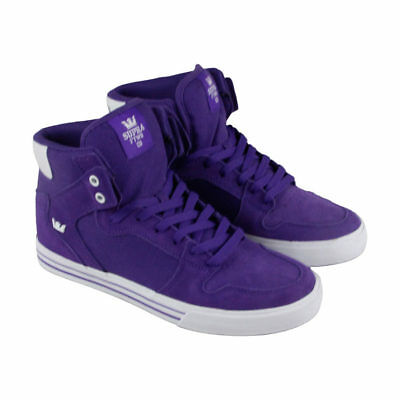 more photos 7b21a 18f84 New Supra Vaider Purple White 08044-501 Skate Skateboarding Shoes 16