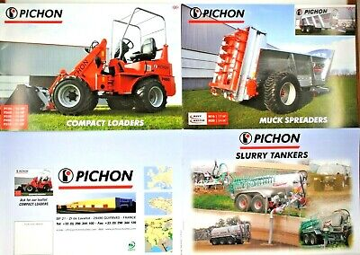 PICHON Farm Machinery Leaflet COMPACT Loaders MANURE Spreaders & SLURRY Tankers