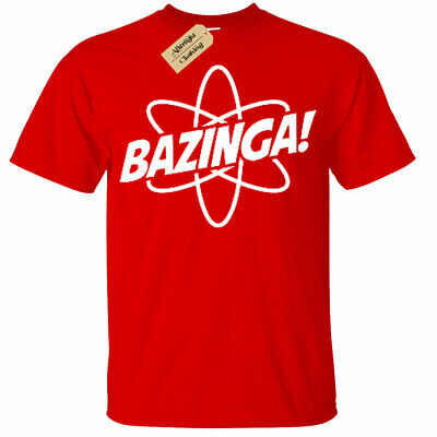 KIDS BOYS GIRLS Bazinga Particle T Shirt atom big bang gift science theory geek