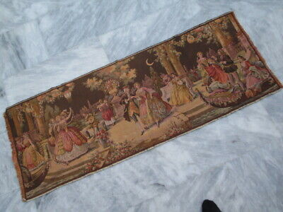 4999 - Old French / Belgium Tapestry Wall Hanging - 131 x 50 cm