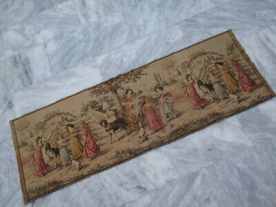 5000 - Old French / Belgium Tapestry Wall Hanging - 142 x 50 cm