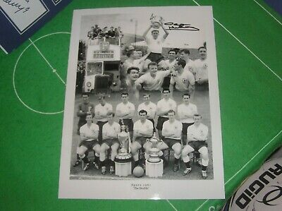 Dave Mackay Signed Tottenham Hotspur Spurs 1961 League & Cup Double Montage