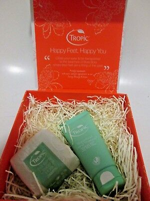 NEW Tropic Premium Gift Set Exfoliating Cleansing Block & Superfood HandTherapy