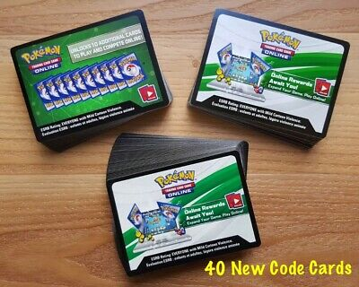Pokemon TCGO Online Code Cards Lot Of 40 New Mixed Lot Sun Moon XY EVOLUTION +