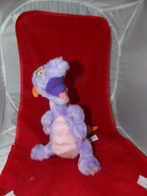 "Dragon Disney Parks 10"" Tall Soft Stuffed Plush Purple Figment Epcot Imagination"