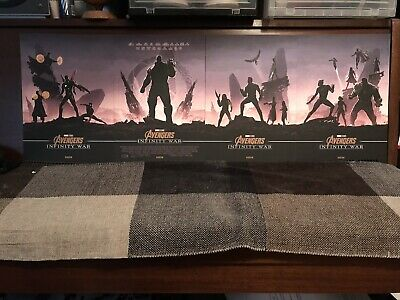 Marvel Avengers Infinity War A4 Posters Odeon Exclusive Thanos Ironman Hulk