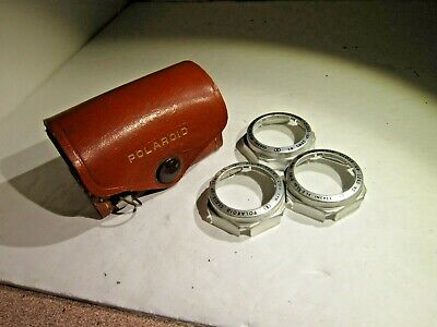Vintage Polaroid Close-up Filter Kit in Leather Case- Rare